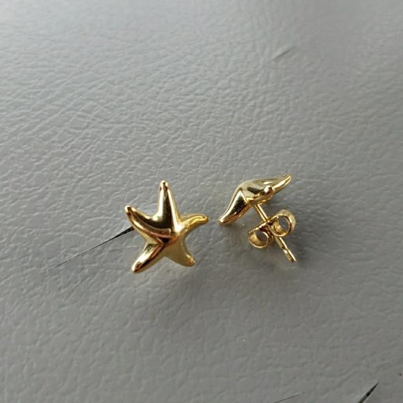 c7363e3de Tiffany & Co. Jewelry | Tiffany Co 18k Au750 Gold Starfish Earrings ...